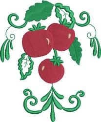 Tomato Bunch embroidery design