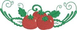 Tomato Dish embroidery design