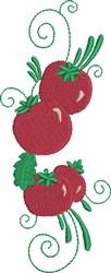 Tomato in Line embroidery design