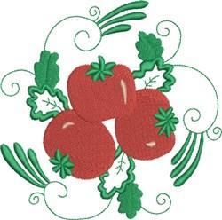 Tomato Square embroidery design