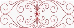 Redwork Scrolls & Flower embroidery design