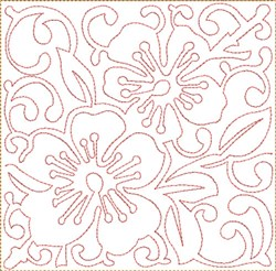 ITH Cherry Blossoms Block embroidery design