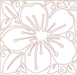ITH Cherry Blossom Block embroidery design
