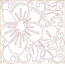 ITH Cherry Blossoms Square embroidery design