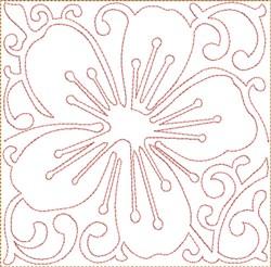 ITH Cherry Blossom Square embroidery design