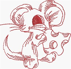 Cutie Mouse embroidery design