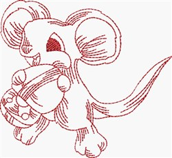 Hungry Mouse embroidery design