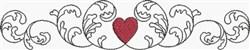 Heart & Scroll Border embroidery design