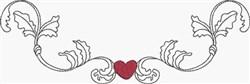 Scroll & Heart Border embroidery design