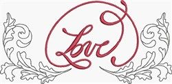 Scroll & Love Border embroidery design