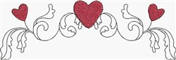Scroll & Heart Border embroidery design