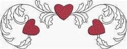 Scroll & Hearts Border embroidery design