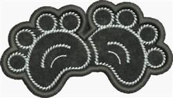 Applique Cat Paws embroidery design