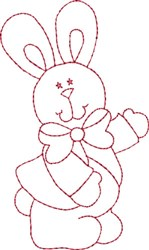 Redwork  Bunny & Bow embroidery design