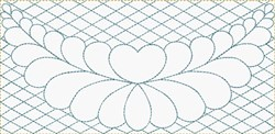 Feather Border embroidery design
