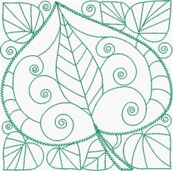 Jade Leaf embroidery design