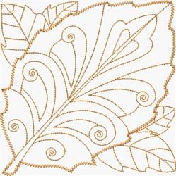 Copper Leaf embroidery design