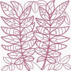 Fuchsia Leaf embroidery design