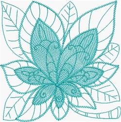 Larimar Leaf embroidery design
