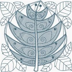 Lapis Leaf embroidery design