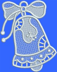 FSL White Bow Bell embroidery design