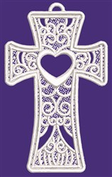 FSL Swirly Cross & Heart embroidery design