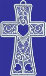 FSL Swirly Love Cross embroidery design