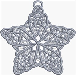 FSL Hanging Star embroidery design