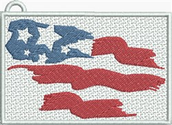 FSL Patriotic Flag Rectangle embroidery design