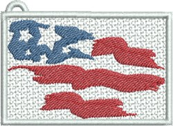 FSL USA Flag Rectangle embroidery design