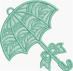 FSL Green Umbrella embroidery design