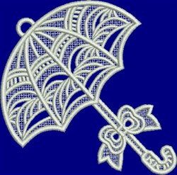 FSL White Umbrella embroidery design
