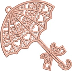 FSL Pink Umbrella embroidery design