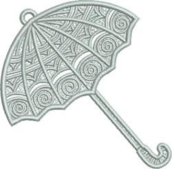 FSL Silver Umbrella embroidery design