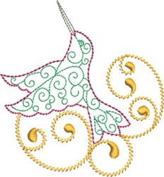 Happy Hummingbird embroidery design