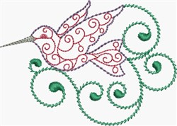 Lacy Hummingbird embroidery design