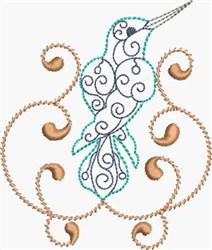 Lovely Hummingbird embroidery design