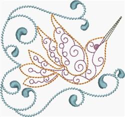 Fancy Hummingbird embroidery design