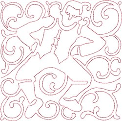 Redwork Lord Block embroidery design