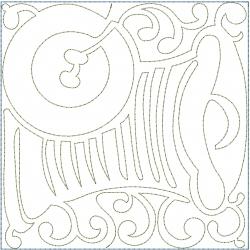 Thread Button Block embroidery design