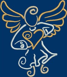 Angel & Heart embroidery design