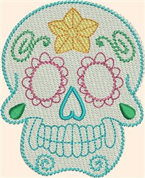 Skull Buttercup embroidery design