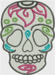 Skull Sunflower embroidery design