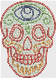 Skull Watcher embroidery design