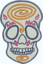 Skull  Spiral embroidery design