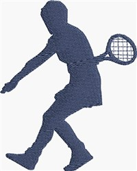 Tennis Woman embroidery design