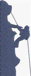 Mountain Climber embroidery design