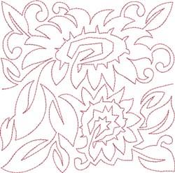 Sunflower Redwork embroidery design
