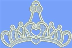 FSL Heart Tiara embroidery design