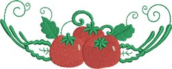 Tomato Dish embroidery design